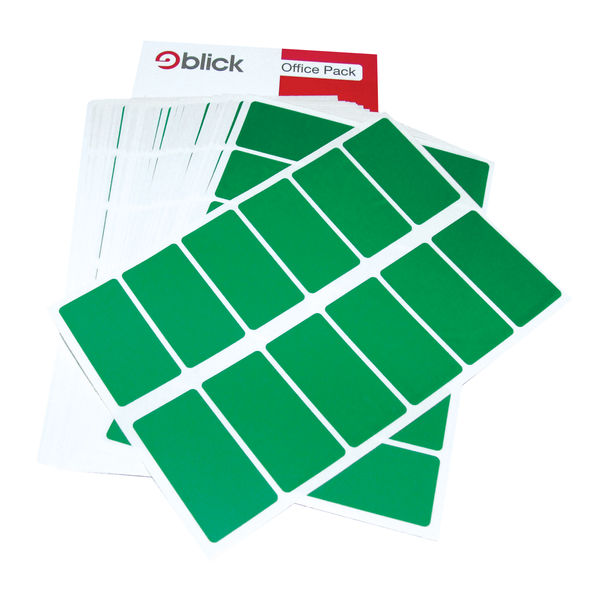 Blick Green 25 x 50mm Office Labels (Pack of 320) - RS01951