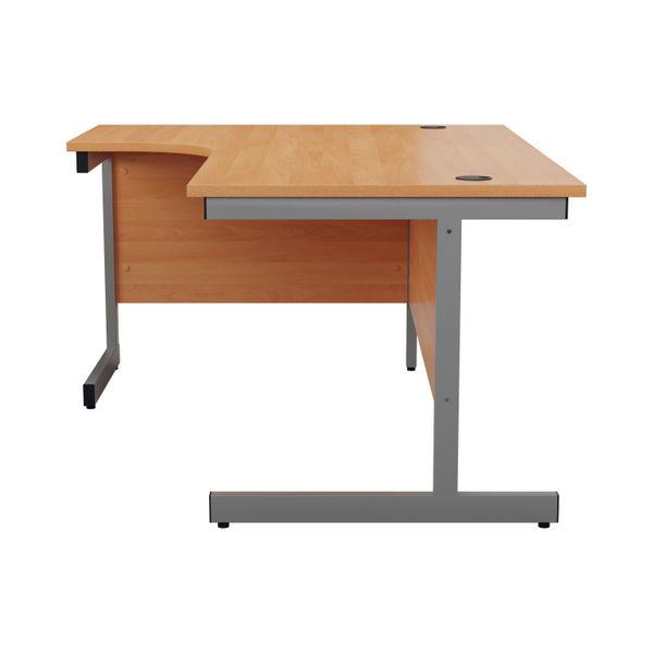 Jemini 1600mm Beech/Silver Left Hand Radial Desk