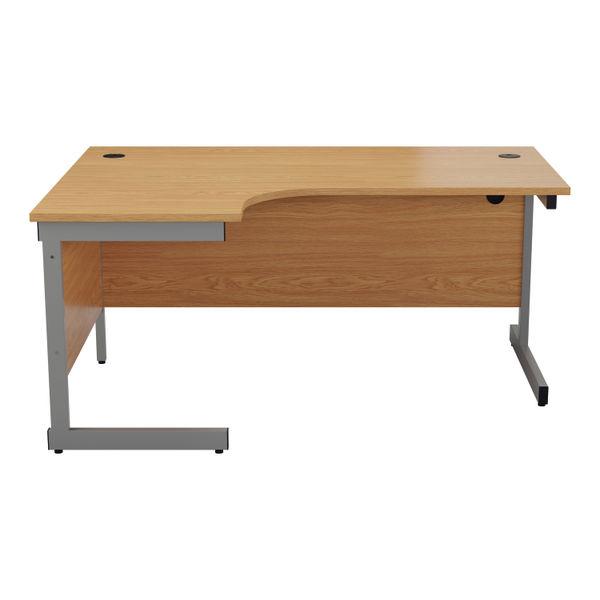 Jemini 1600mm Nova Oak/Silver Left Hand Radial Desk