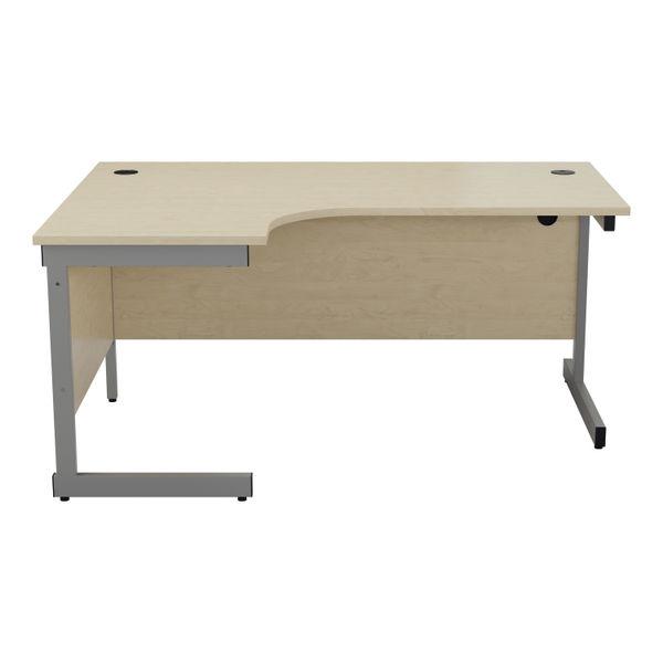 Jemini 1600mm Maple/Silver Left Hand Radial Desk