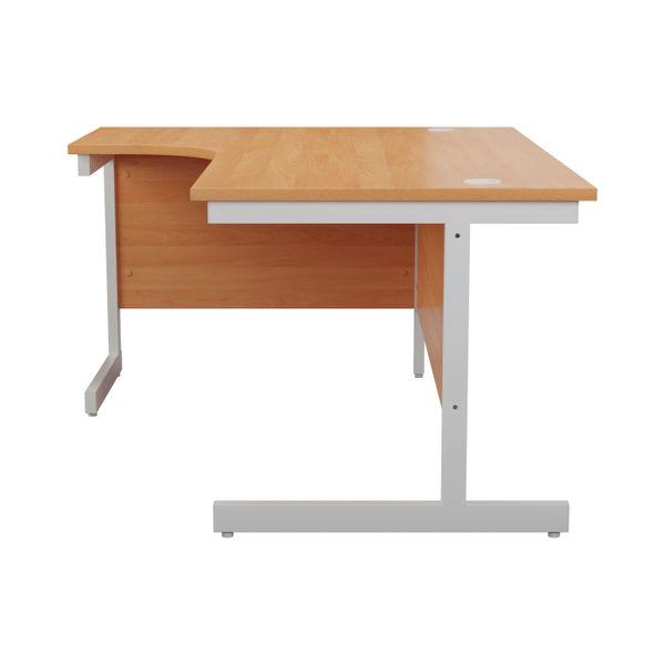 Jemini 1600mm Beech/White Left Hand Radial Desk