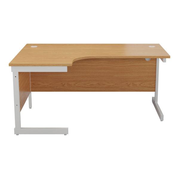 Jemini 1600mm Nova Oak/White Left Hand Radial Desk