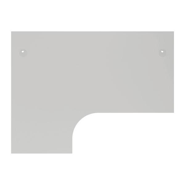 Jemini 1600mm White/White Left Hand Radial Desk