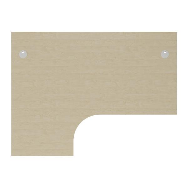 Jemini 1600mm Maple/White Left Hand Radial Desk