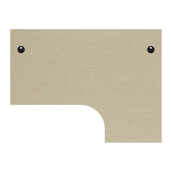 Jemini 1600mm Maple/Silver Right Hand Radial Desk