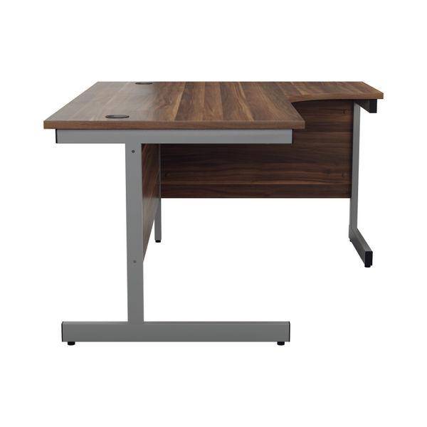 Jemini 1600mm Dark Walnut/Silver Right Hand Radial Desk