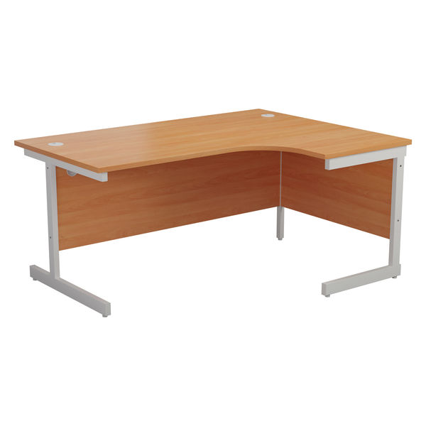Jemini 1600mm Beech/White Right Hand Radial Desk