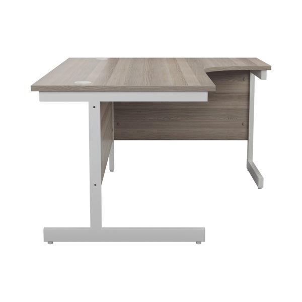 Jemini 1600mm Grey Oak/White Right Hand Radial Desk