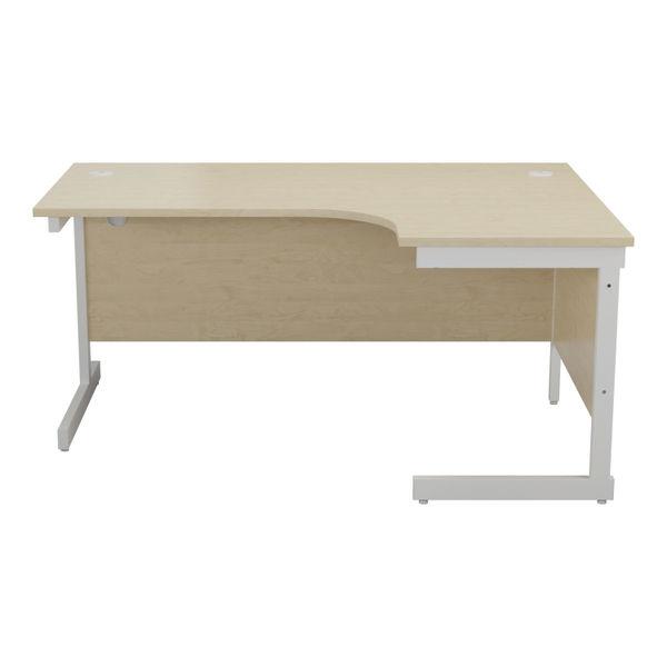 Jemini 1600mm Maple/White Right Hand Radial Desk