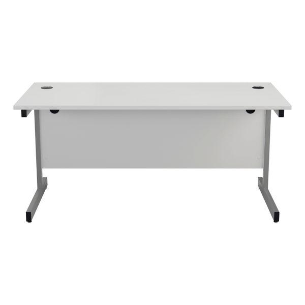 Jemini 1800x800mm White/Silver Single Rectangular Desk