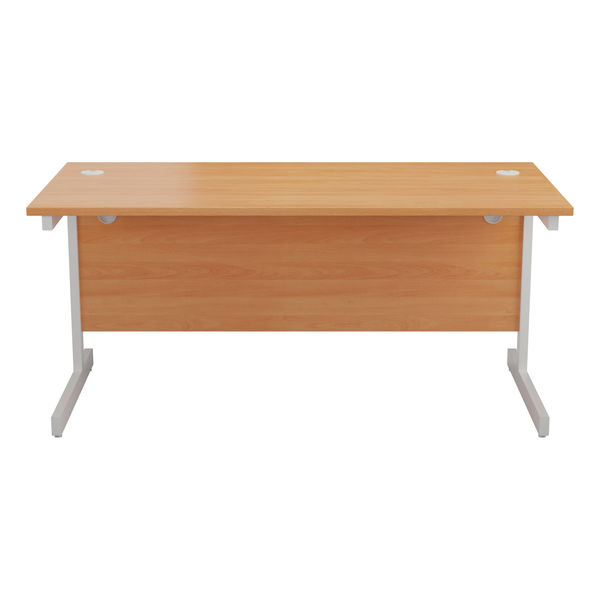 Jemini 1800x800mm Beech/White Single Rectangular Desk