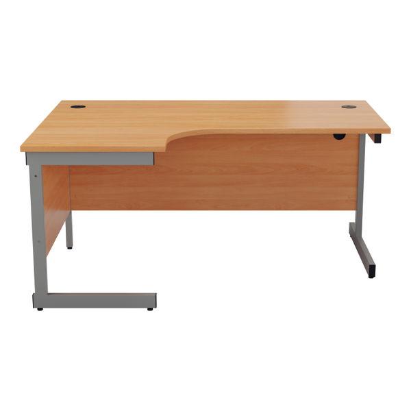 Jemini 1800mm Beech/Silver Left Hand Radial Desk