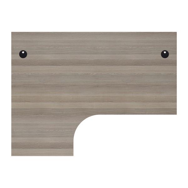 Jemini 1800mm Grey Oak/Silver Left Hand Radial Desk