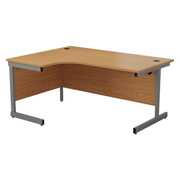 Jemini 1800mm Nova Oak/Silver Left Hand Radial Desk