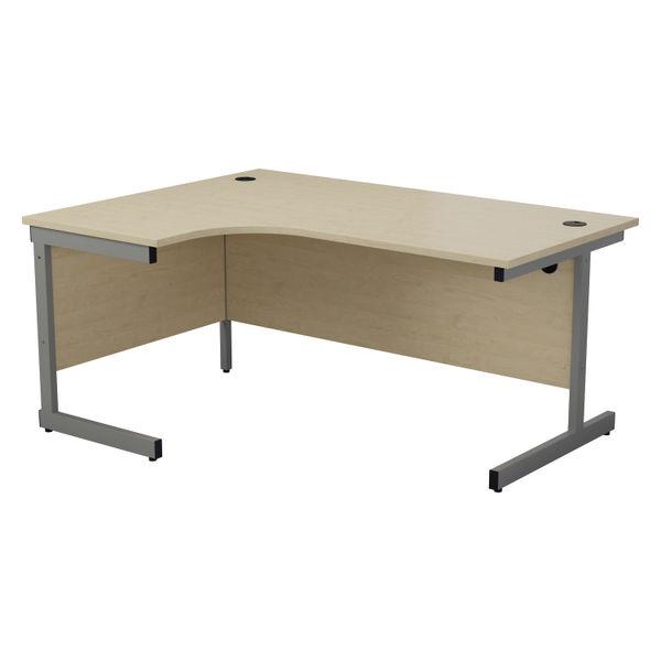 Jemini 1800mm Maple/Silver Left Hand Radial Desk