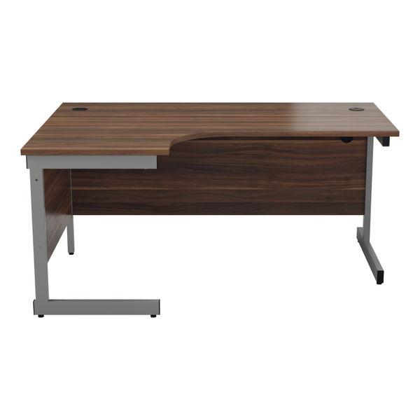 Jemini 1800mm Dark Walnut/Silver Left Hand Radial Desk