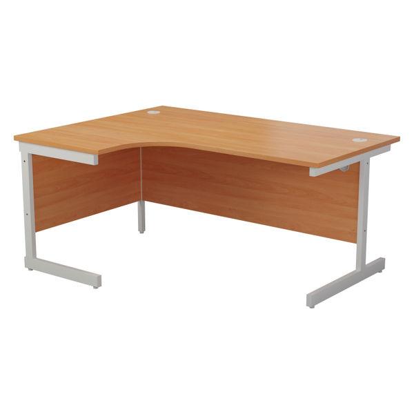 Jemini 1800mm Beech/White Left Hand Radial Desk