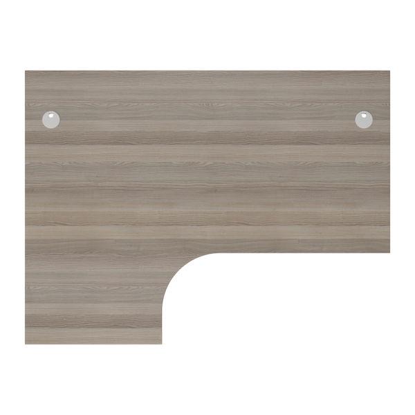 Jemini 1800mm Grey Oak/White Left Hand Radial Desk