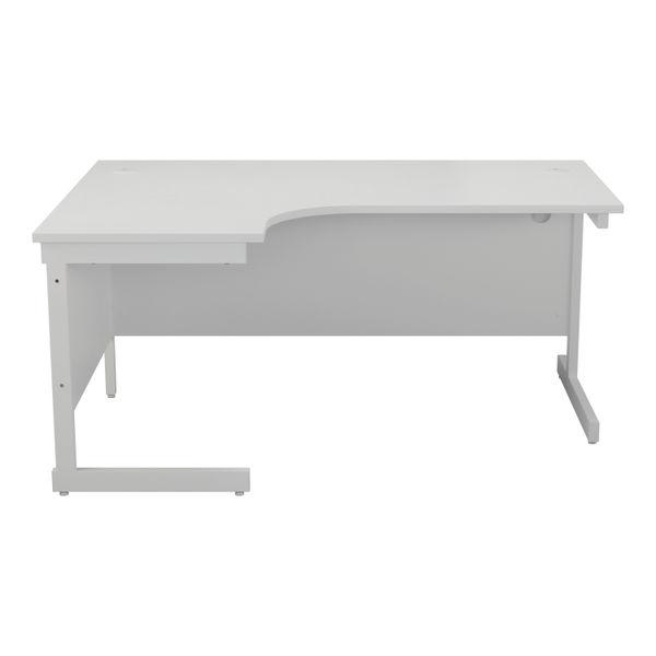 Jemini 1800mm White/White Left Hand Radial Desk