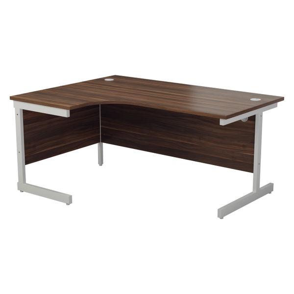 Jemini 1800mm Dark Walnut/White Left Hand Radial Desk