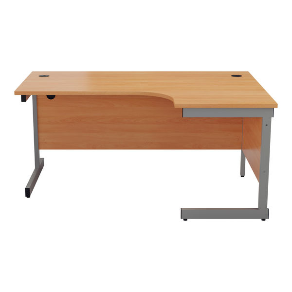 Jemini 1800mm Beech/Silver Right Hand Radial Desk