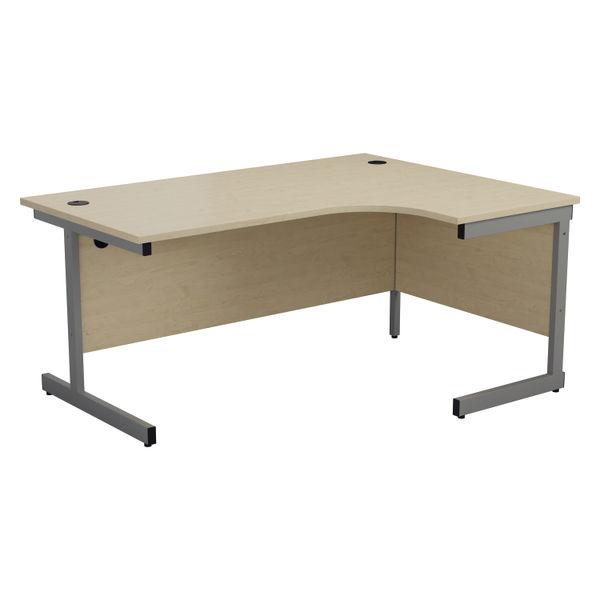 Jemini 1800mm Maple/Silver Right Hand Radial Desk