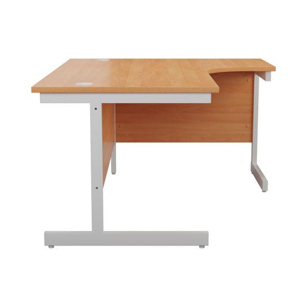 Jemini 1800mm Beech/White Right Hand Radial Desk