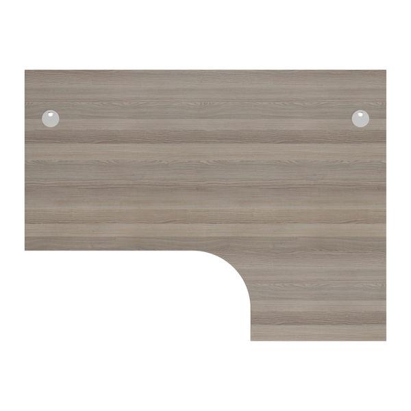 Jemini 1800mm Grey Oak/White Right Hand Radial Desk