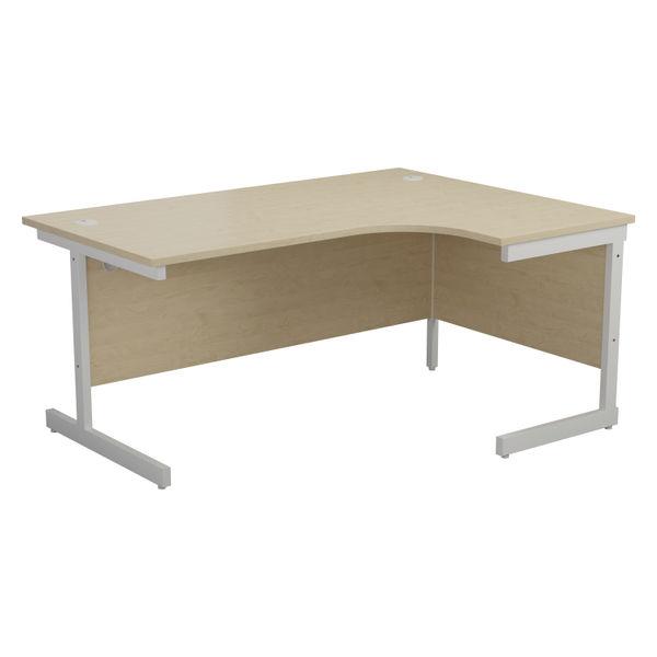 Jemini 1800mm Maple/White Right Hand Radial Desk