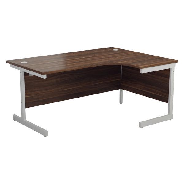 Jemini 1800mm Dark Walnut/White Right Hand Radial Desk