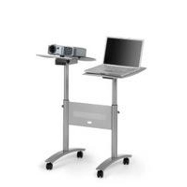Nobo Grey LCD/DLP Projector Trolley Twin Platform 1900791