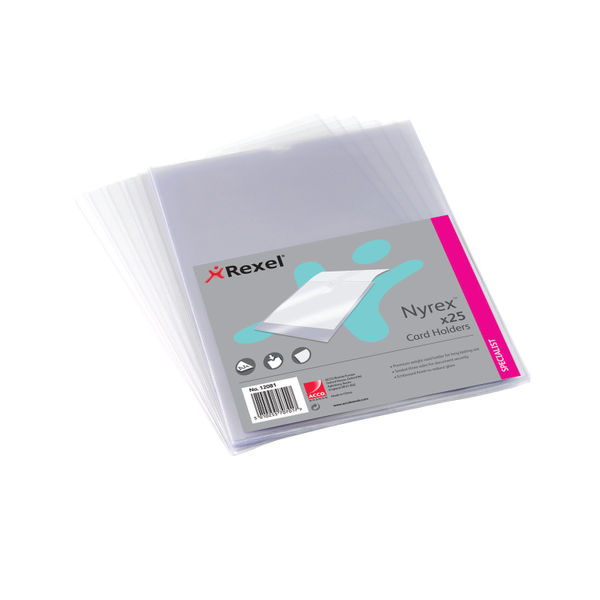 Rexel Card Holders PGC/A41 A4 (Pack of 25) | 12081