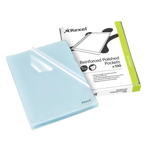Rexel Clear A4 Polypropylene Cut Flush Folders, Pack of 100 | 12215