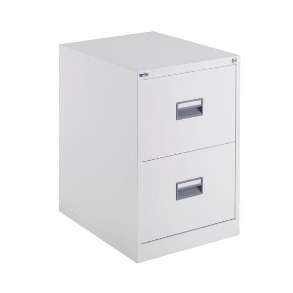 Talos 700mm White 2 Drawer Filing Cabinet