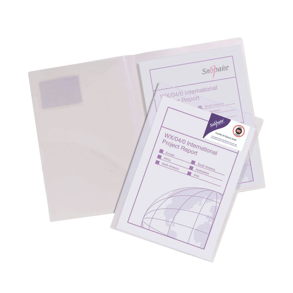 Snopake Presentation A4 Clear 4 O-Ring Binder, 25mm - 13368