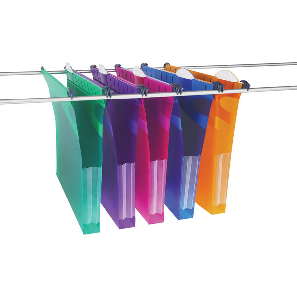 Rexel Multifile Extra Suspension File Assorted (Pack of 5) 2101578