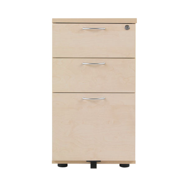 Jemini 800mm Maple 3 Drawer Desk Pedestal