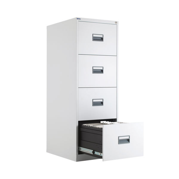 Talos 1300mm White 4 Drawer Filing Cabinet