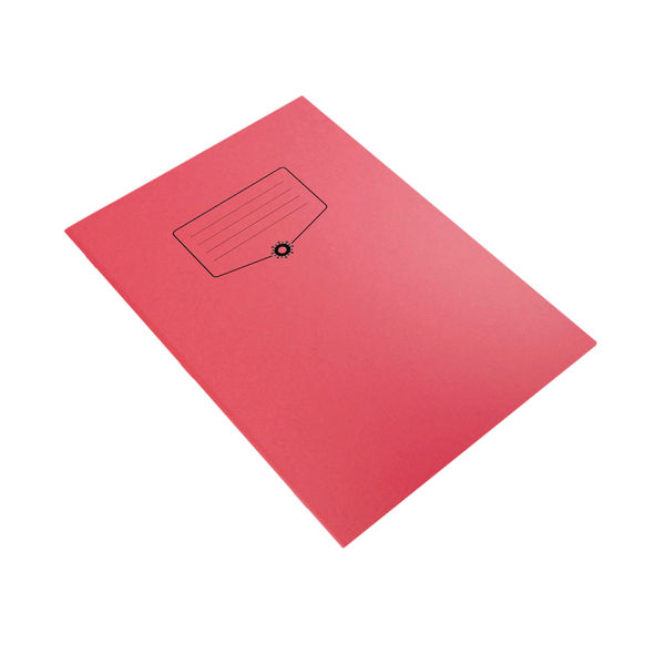 Silvine Bacoff Exercise Book Ruled with Margin A4 Red (Pack of 10) EXBAC142
