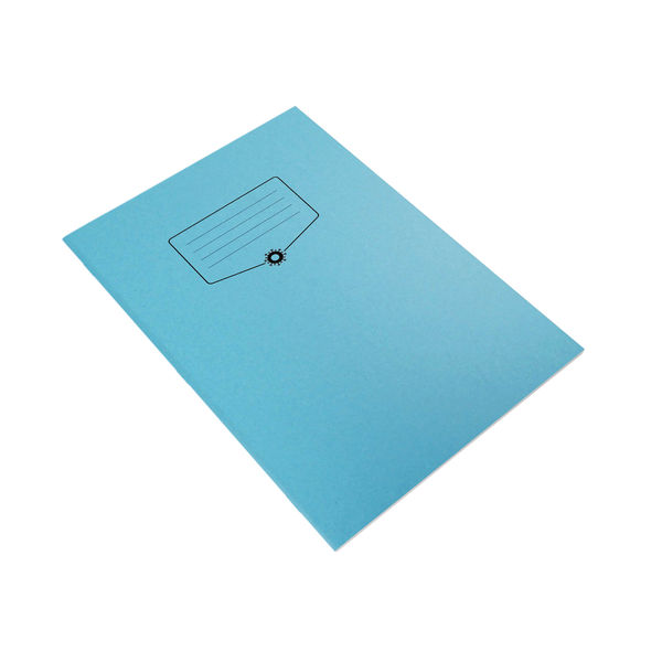 Silvine Bacoff Exercise Book Ruled 7mm Squares A4 Blue (Pack of 10) EXBAC151