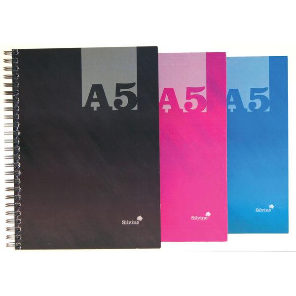 Silvine A5 Hardback Ruled Notebooks - Pack of 12 - THBA5AC