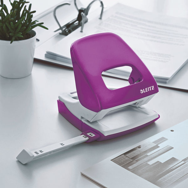 Leitz NeXXt WOW Metal Office Hole Punch 30 sheets Purple 50081062