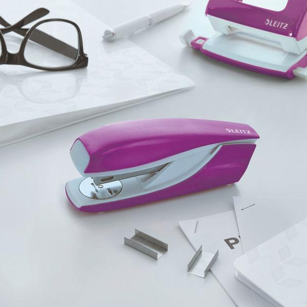 Leitz NeXXt WOW Metal Office Stapler 30 sheets Purple 55021062