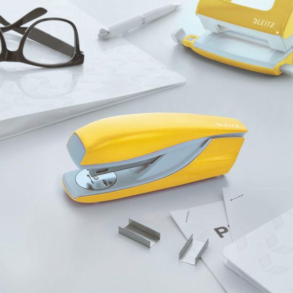 Leitz NeXXt WOW Metal Office Stapler 30 Sheets Yellow 55021016