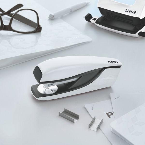 Leitz NeXXt WOW Metal Office Stapler 30 sheets Pearl White 55021001
