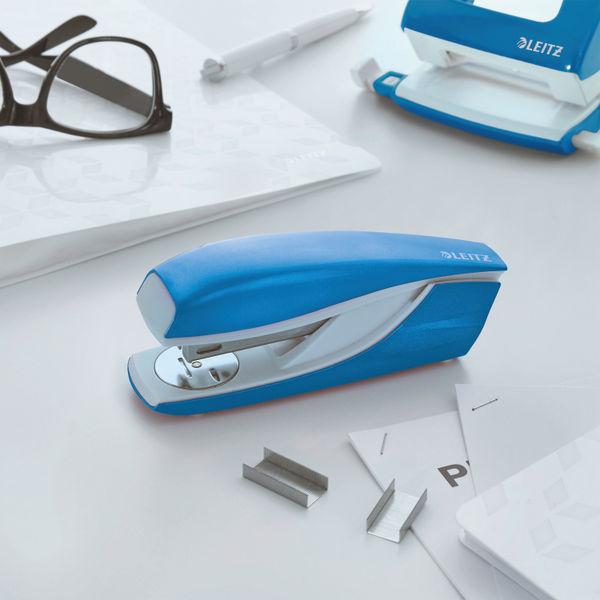 Leitz NeXXt WOW Metal Office Stapler 30 sheets Blue 55021036