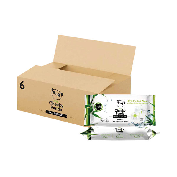 Cheeky Panda Biodegradable Multipurpose Wipes 100 (Pack of 6) 706117