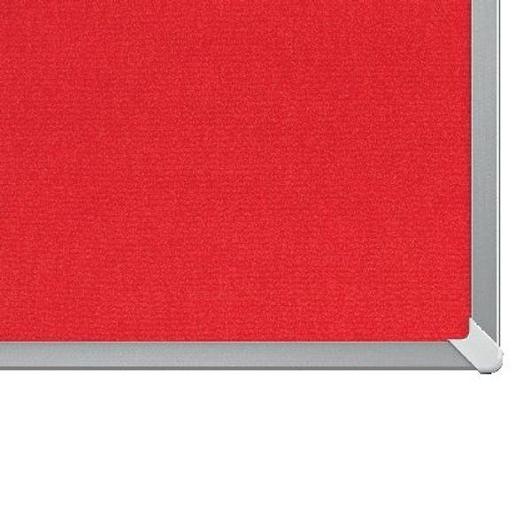 Nobo Red 40 Inch Widescreen Felt Noticeboard - 1905311