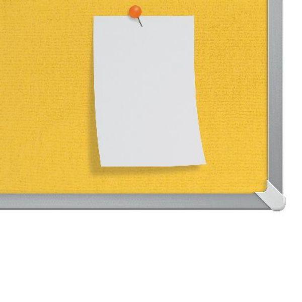Nobo Yellow 40 Inch Widescreen Felt Noticeboard - 1905319
