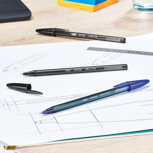 Bic Cristal Black Ultra Fine Ballpoint Pens (Pack of 20) - 992603